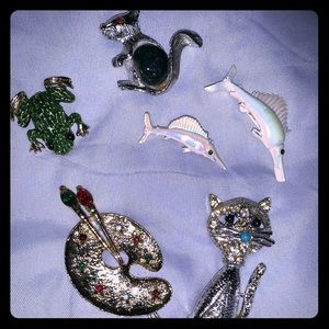 Vintage pins 6 piece set
